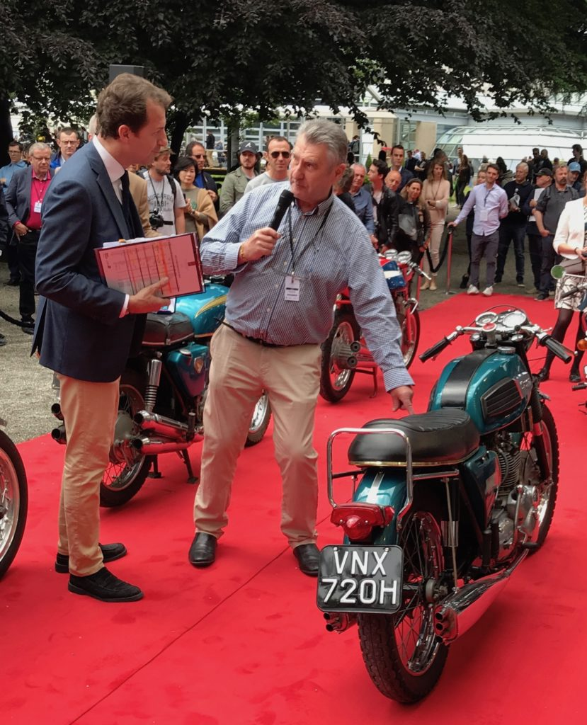ed95aca51b5 Journalist and author Mick Duckworth 'splains the '68 Triumph Trident in  original paint, that Giacomo Agostini received new with factory mods  (rearsets, ...